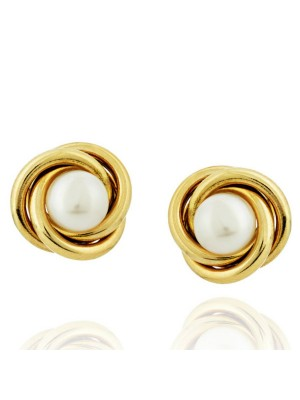 925 Sterling Silver Pearl Magic Stud Earrings