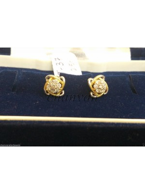 Beautifully Crafted Diamond 14K Gold Stud Earring