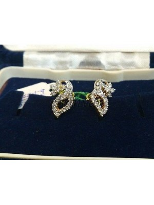 Love Feeling Natural Diamond 14K Gold Stud Earring
