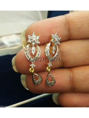 Amaze the World With Diamond 14K Yellow White Gold Earring