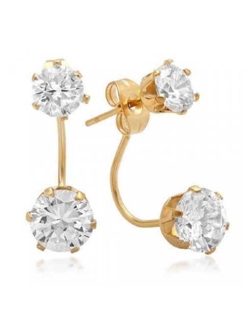 Artisan Lab Diamond Solid 14K Yellow Gold Earring