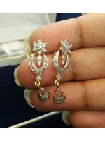 Natural Diamond 14K Gold Engagement Gold Earrings