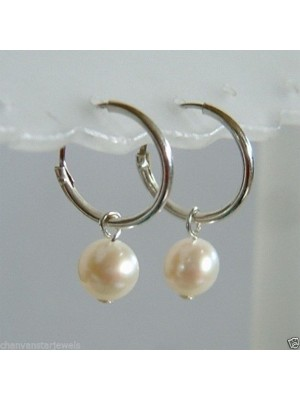 Pearl Magic Designer 925 Silver Hoop Earring
