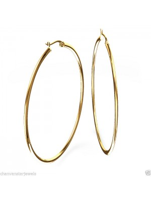Gold Dipped Sterling Silver Hoop Earring