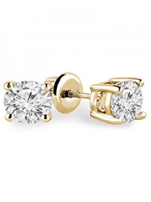 Solitaire Inspire Silver Diamond Stud Earring