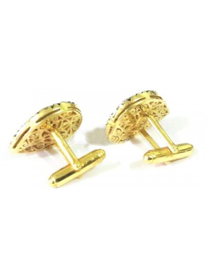 Beauty of Polky Diamond 925 Silver Cufflinks Men Jewelry
