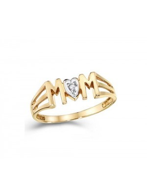 Mother's Day Special Natural Diamond 14K Gold Ring