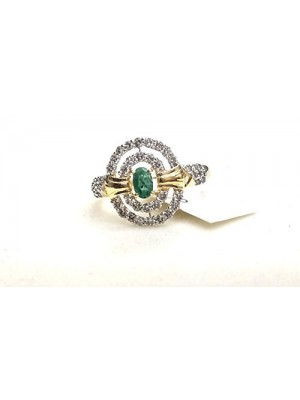 Stone and Diamond Partners 14K Gold Bride Rings