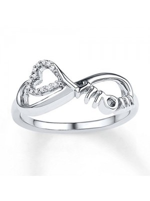 Just for You Mom Natural Diamond 14K Gold Rings