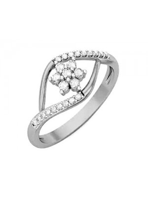 Artistic Touch Real Diamond 14K White Gold Ring