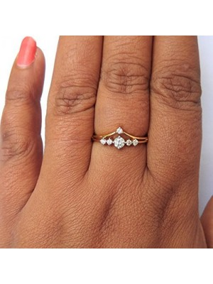 Your Style 14K Yellow Gold Natural Diamond Rings