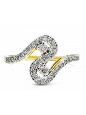 Perfect Handcrafted Gift Natural Diamond 14K Gold Ring
