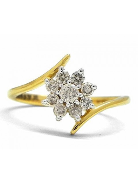 Floral Touch Handcrafted Natural Diamond 14K Gold Ring