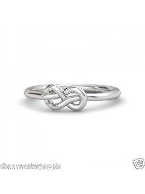 Classic Knot Silver Women Ring