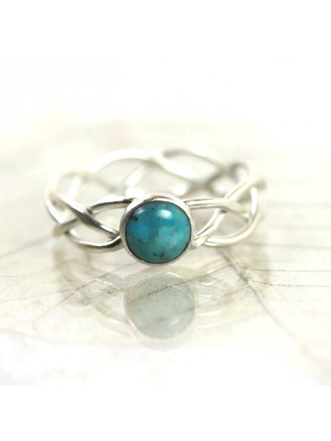 Color of Life Blue Stone Silver Midi Ring