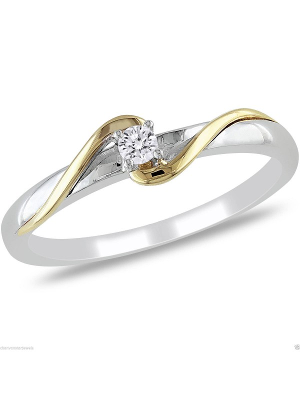 Promise Solitaire Style Silver Ring