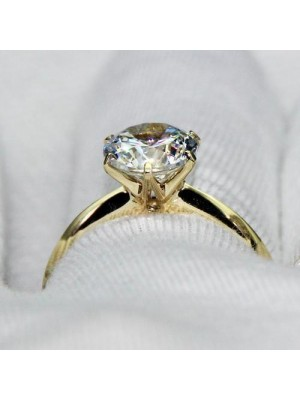 Graceful Diamond Silver Promise Ring