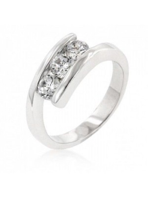 Handcrafted for You Simulated Diamond 14K White Gold Ring