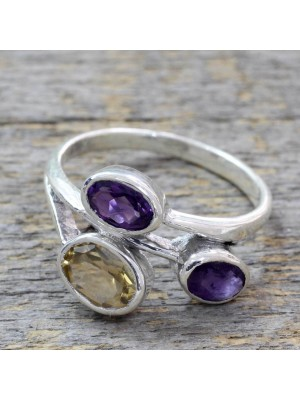 Stone Partners 925 Sterling Silver Women Ring