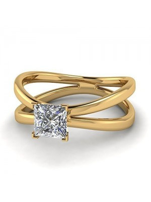 Solitaire Inspired 925 Silver Lab Diamond Ring