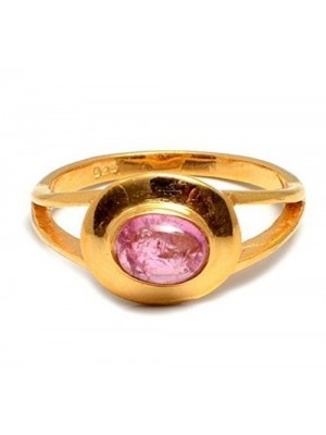 Lady Love Pink Stone Silver Ring