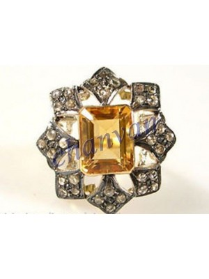 Ancient Glory RoseCut Diamond Sterling Silver Ring