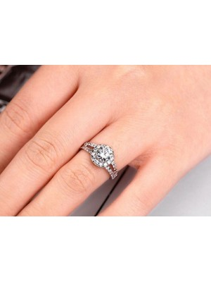 Solitaire Touch Lab Diamond Solid 14K Yellow Gold Ring