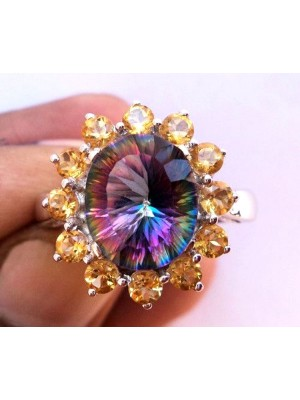 Rainbow Sterling Silver Ring