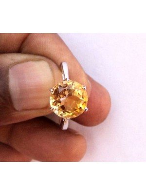 Play with Yellow Stone 925 Silver Ring