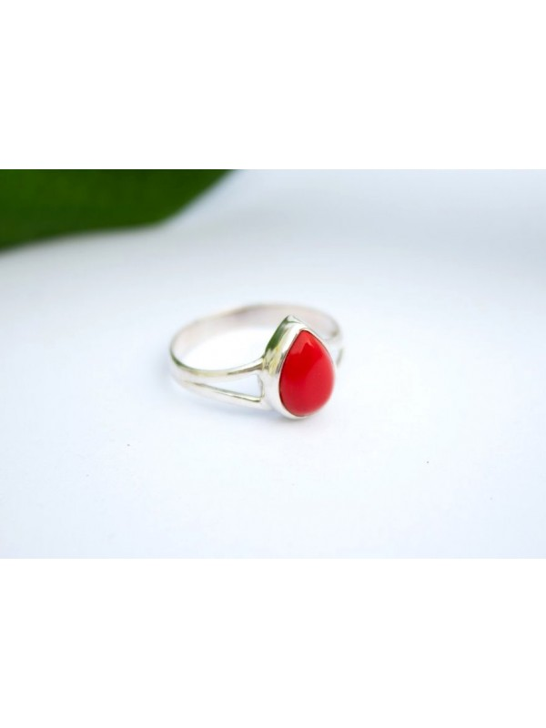 Lipstick Red Sterling Silver Ring