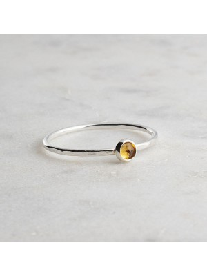Tiny Round Silver Ring