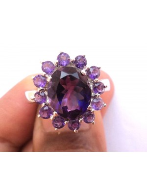 Amethyst Blue Color Sterling Silver Ring